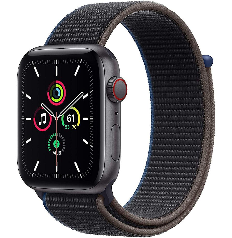 """<p><strong>Apple</strong></p><p>amazon.com</p><p><strong>$329.00</strong></p><p><a href=""""https://www.amazon.com/dp/B08J5S19RF?tag=syn-yahoo-20&ascsubtag=%5Bartid%7C10049.g.36678553%5Bsrc%7Cyahoo-us"""" rel=""""nofollow noopener"""" target=""""_blank"""" data-ylk=""""slk:Buy"""" class=""""link rapid-noclick-resp"""">Buy</a></p><p><del>$359.00</del> <strong>(8% off)</strong></p><p>If you aren't totally falling for the sport loop attached to this more budget-friendly Apple Watch, we've got plenty of more <a href=""""https://www.esquire.com/lifestyle/g36008308/luxury-apple-watch-bands/"""" rel=""""nofollow noopener"""" target=""""_blank"""" data-ylk=""""slk:upscale band options"""" class=""""link rapid-noclick-resp"""">upscale band options</a> already picked out for you.</p>"""