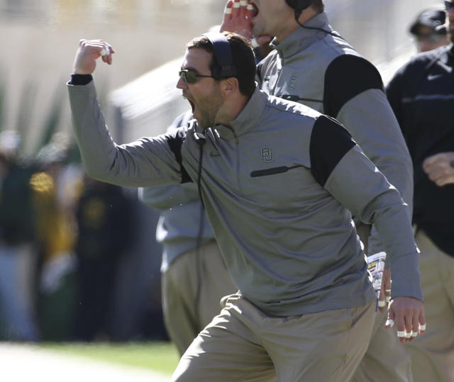 Kendal Briles was at Baylor for nine seasons before spending 2017 at FAU. (Jerry Larson/Waco Tribune Herald via AP, file)