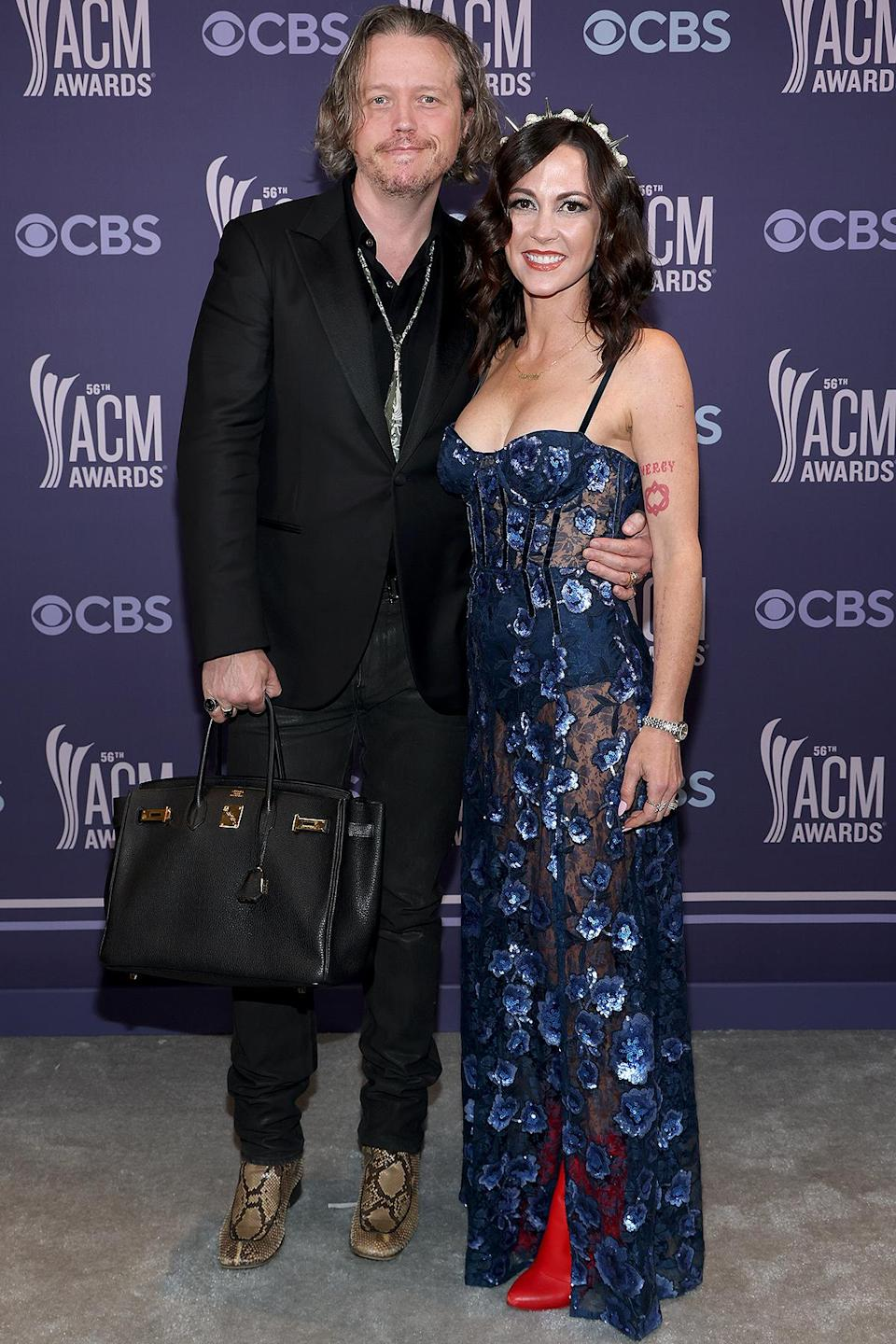 <p>The music-making couple won the unofficial award for most fun footwear. </p>