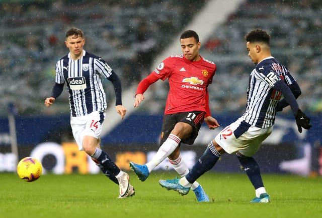 Mason Greenwood played in Sunday's 1-1 draw at West Brom