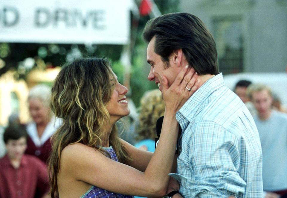 "<p>There was just simply not enough Aniston in this comedy, which focuses on Jim Carrey being struck by God-like abilities. </p><p><a class=""link rapid-noclick-resp"" href=""https://www.amazon.com/Bruce-Almighty-Jim-Carrey/dp/B000WZAP6W/ref=sr_1_2?tag=syn-yahoo-20&ascsubtag=%5Bartid%7C10063.g.36311626%5Bsrc%7Cyahoo-us"" rel=""nofollow noopener"" target=""_blank"" data-ylk=""slk:WATCH NOW"">WATCH NOW</a></p>"
