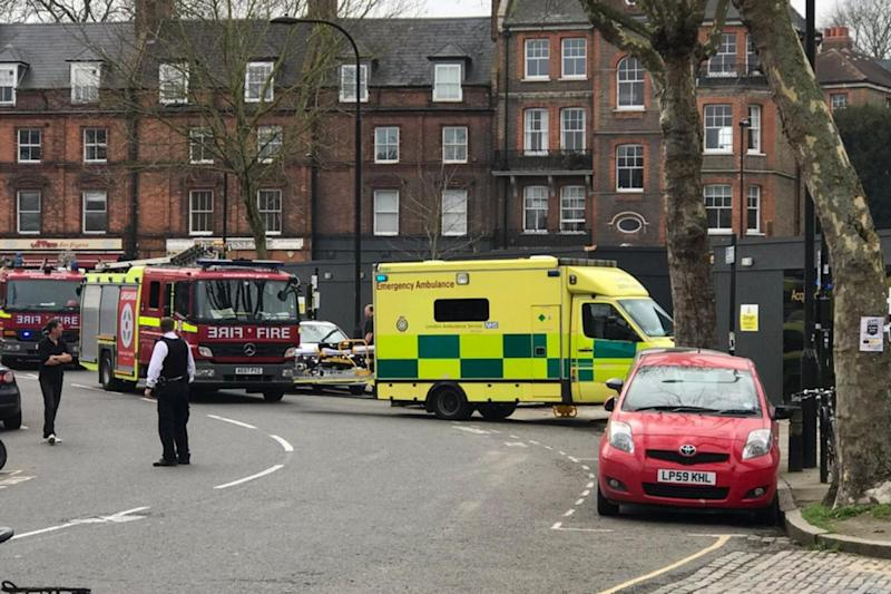 Emergency services descended on the scene just after 2pm (Kenneth Tharp)