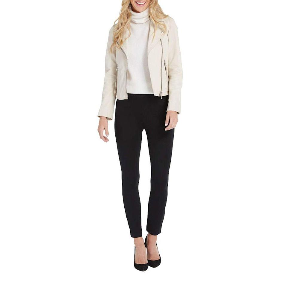 """<p><strong>SPANX</strong></p><p>nordstrom.com</p><p><strong>$128.00</strong></p><p><a href=""""https://go.redirectingat.com?id=74968X1596630&url=https%3A%2F%2Fwww.nordstrom.com%2Fs%2Fspanx-the-perfect-black-pant-back-seam-skinny-pants-regular-plus-size%2F5353671&sref=https%3A%2F%2Fwww.bestproducts.com%2Flifestyle%2Fg3395%2Fbest-gifts-to-buy-for-yourself%2F"""" rel=""""nofollow noopener"""" target=""""_blank"""" data-ylk=""""slk:Shop Now"""" class=""""link rapid-noclick-resp"""">Shop Now</a></p><p>A major step up from the pair of faded and clingy black pants you currently own, <a href=""""https://www.bestproducts.com/fashion/a29892567/spanx-perfect-black-pant-review/"""" rel=""""nofollow noopener"""" target=""""_blank"""" data-ylk=""""slk:this super comfy toning option"""" class=""""link rapid-noclick-resp"""">this super comfy toning option</a> will soon be a wardrobe staple. </p><p>They're stretchy enough to easily pull on and off, giving you the same feel as your favorite pair of leggings, but still manage to tuck in unwanted bulging bumps, so you can confidently go about your day.</p>"""