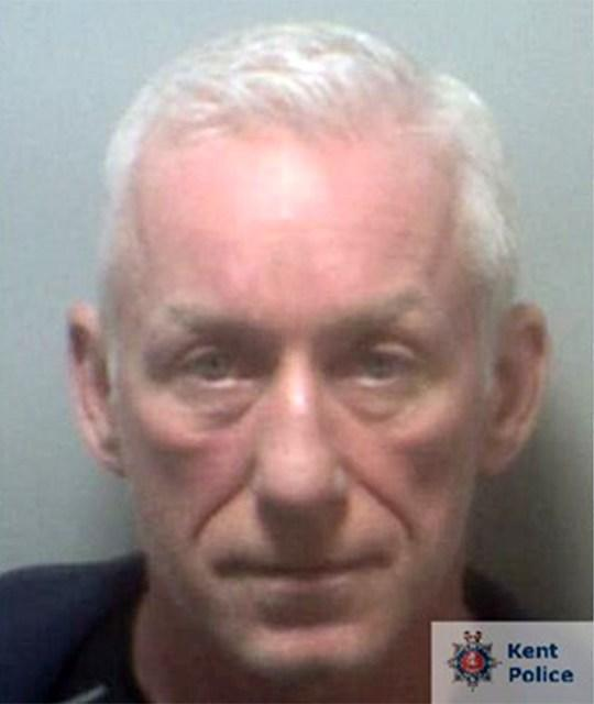 Derek O'Rourke, 57, was caught fter he connected his phone to various internet hotspots in Maidstone town centre (Picture: Kent Police)