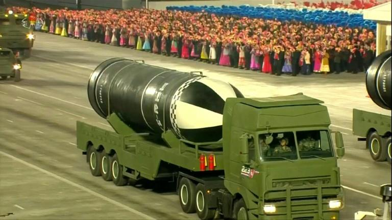 North Korea shows off new submarine-launched missile at parade