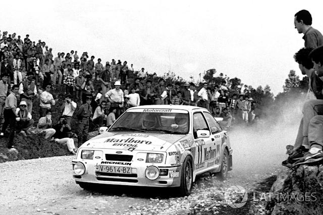 "Carlos Sainz, Antonio Boto, Ford Sierra RS Cosworth <span class=""copyright"">LAT Images</span>"