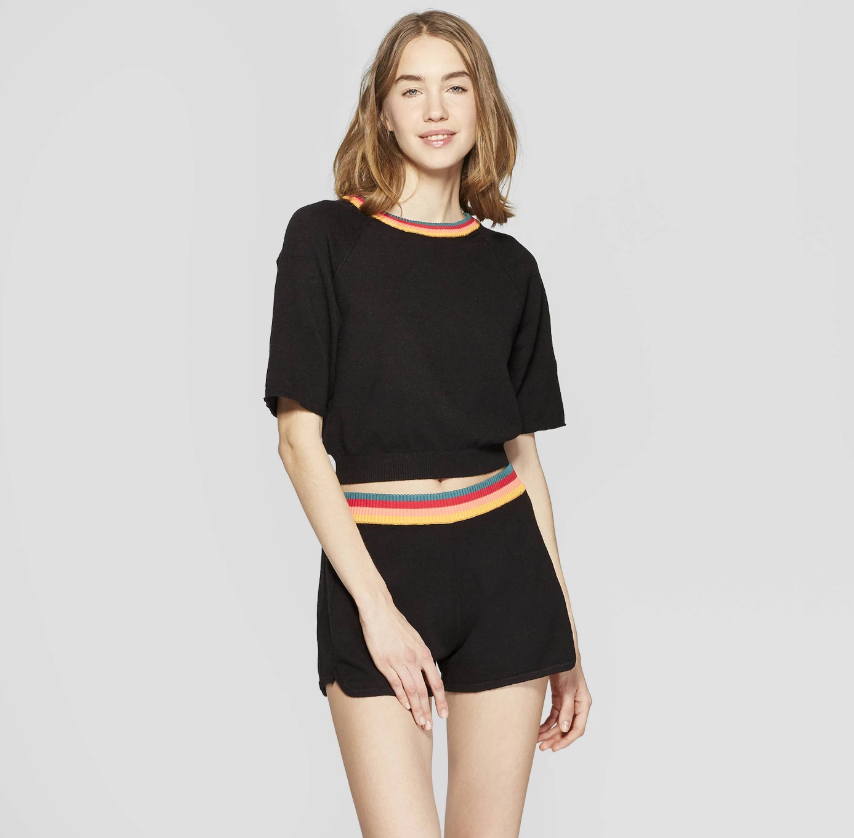 Colsie Women's Lounge Sweater T-Shirt and Shorts (Photo: Target)