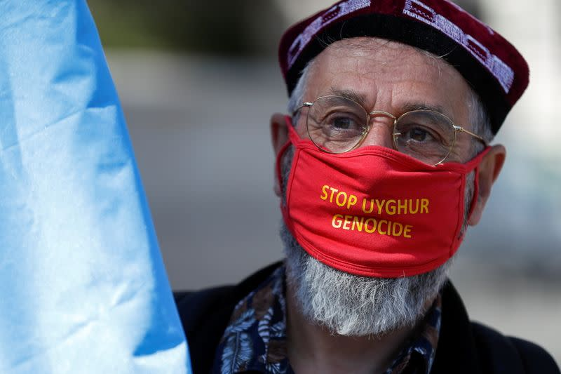 Protest against Uyghur genocide, in London