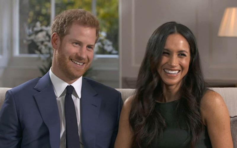 Parts of the book used quotes from Harry and Meghan's engagement interview - BBC