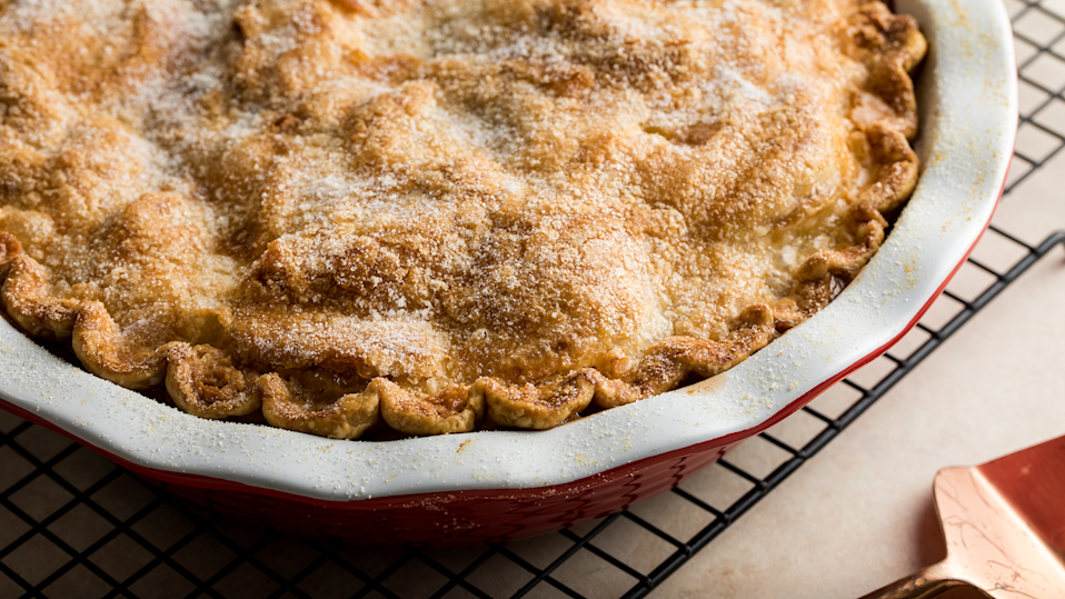 """<p>Of course, you can't go through fall or winter without the classic <a href=""""https://www.thedailymeal.com/cook/fourth-july-desserts-are-more-american-apple-pie-recipes?referrer=yahoo&category=beauty_food&include_utm=1&utm_medium=referral&utm_source=yahoo&utm_campaign=feed"""" rel=""""nofollow noopener"""" target=""""_blank"""" data-ylk=""""slk:all-American apple pie"""" class=""""link rapid-noclick-resp"""">all-American apple pie</a>. Instead of using apples you can find year-round, opt for apples you can only find in the fall.</p> <p><a href=""""https://www.thedailymeal.com/recipes/classic-apple-pie?referrer=yahoo&category=beauty_food&include_utm=1&utm_medium=referral&utm_source=yahoo&utm_campaign=feed"""" rel=""""nofollow noopener"""" target=""""_blank"""" data-ylk=""""slk:For the Classic Apple Pie recipe, click here."""" class=""""link rapid-noclick-resp"""">For the Classic Apple Pie recipe, click here.</a></p>"""