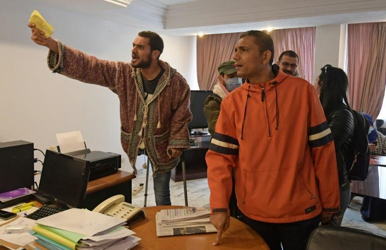 Former Tunisian protesters who were injured during the revolution demand recognition and compensation in the capital Tunis