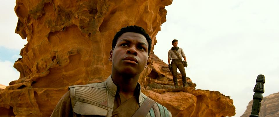 Finn (John Boyega) and Poe Dameron (Oscar Isaac) in STAR WARS: EPISODE IX.