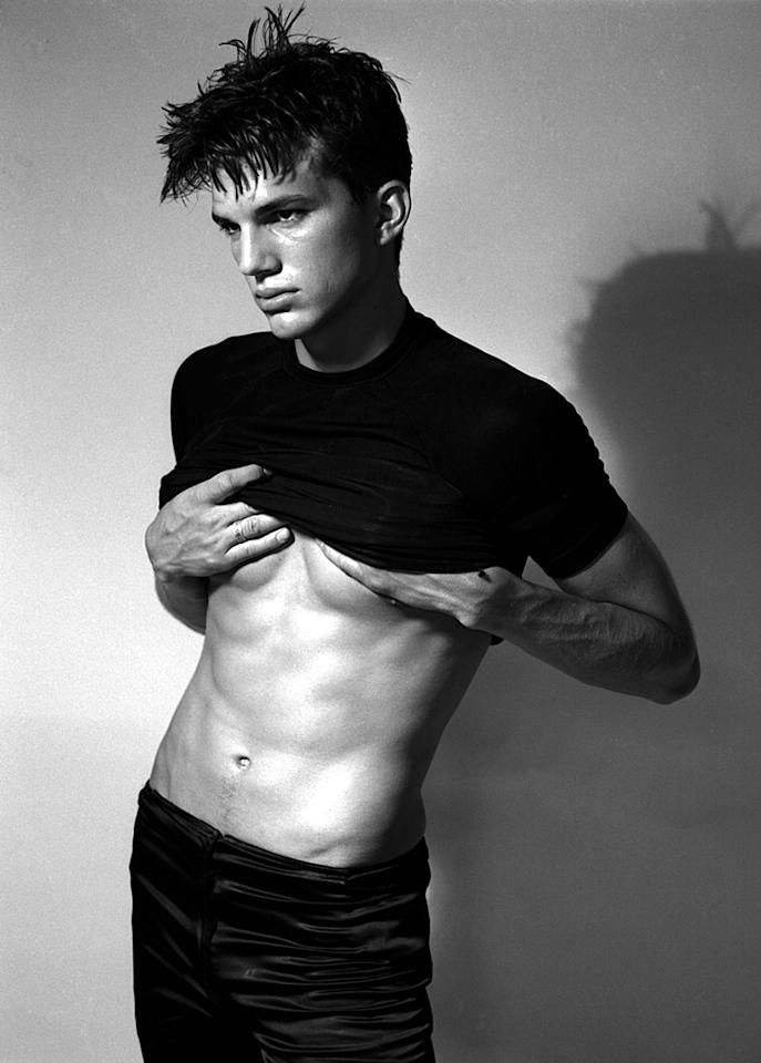 """<strong>Ashton Kutcher</strong><br><br>As a student at the University of Iowa, Ashton was recruited for the """"Fresh Faces of Iowa"""" model competition and a new career was born. This model shot is from one of his first portfolios in 1995, before the TV, film, and Twitter fame. (Whitebronco Photo/PacificCoastNews)<br><br><a target=""""_blank"""" href=""""http://www.snakkle.com/galleries/before-they-were-famous-stars-famous-actor-celebrities-as-models-then-and-now/"""">See More Stars as Models at Snakkle.com</a>"""