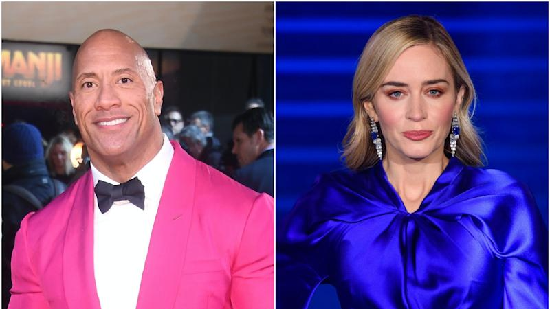 Superhero film starring The Rock and Emily Blunt to arrive on Netflix