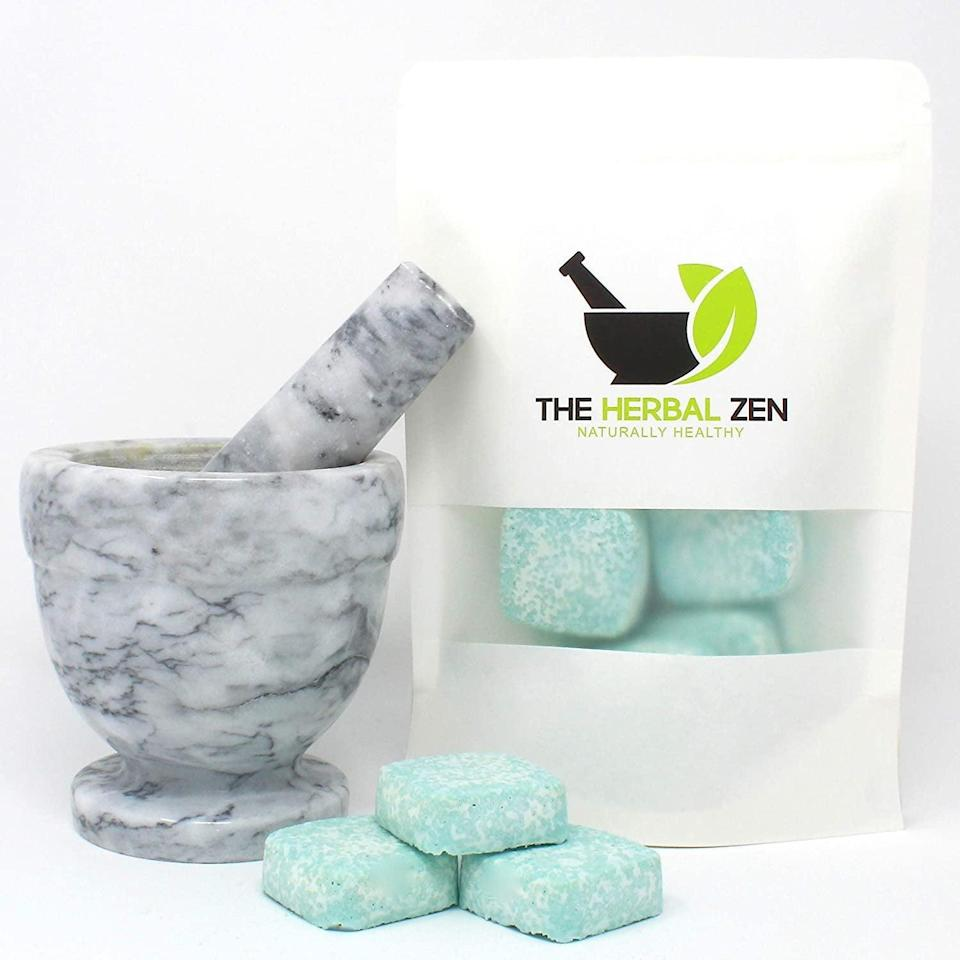 <p>If you enjoy aromatherapy, these <span>The Herbal Zen Stress Fighter Shower Steamers</span> ($21) will make you feel calm and serene during your shower.</p>
