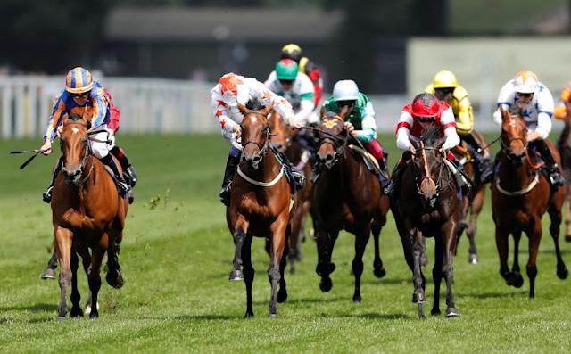 Horse Racing - Royal Ascot - Ascot Racecourse, Ascot, Britain - June 20, 2018 Signora Cabello ridden by Oisin Murphy (C) wins the 2.30 Queen Mary Stakes Action Images via Reuters/Andrew Boyers