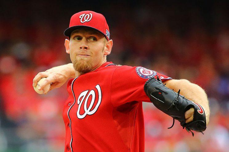 Stephen Strasburg reamins hyped (Getty Images)