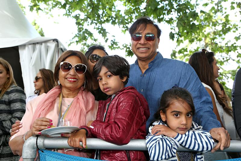 Lakshmi Mittal and family attend Day Two at the 2015 FIA Formula E Visa London ePrix at Battersea Park on June 28, 2015 in London, England. (Photo by David M. Benett/Getty Images)