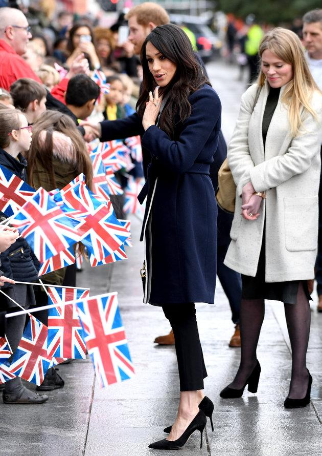 Meghan Markle meets members of the public during a visit to Millennium Point in Birmingham