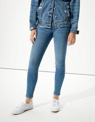"""<p>""""I will only wear these <span>AE Ne(x)t Level Jeggings</span> ($40). They are incredibly comfortable and the only kind of jeans I've found to fit and flatter my athletic body type. The look like regular jeans and not like your typical jeggings (aka real pockets, thicker material, etc.). I also appreciate that they come in such a variety of colors, styles, and rises so I can be comfortable no matter what outfit I'm putting together."""" - Jordan Shalhoub, social producer, Fitness</p>"""