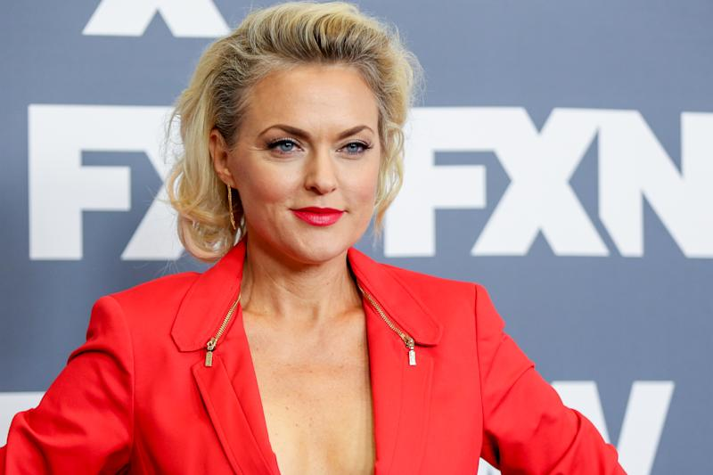 "Elaine Hendrix, a cast member in the television series ""Sex & Drugs & Rock & Roll,"" arrives at the FX Television Critics Association summer press tour on Tuesday, Aug. 9, 2016, in Beverly Hills, Calif. (Photo by Rich Fury/Invision/AP)"