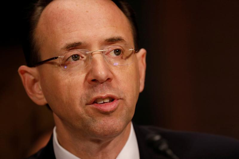 Rod Rosenstein 'Stands By' The Memo Trump Used To Justify Firing James Comey