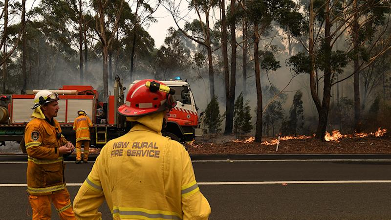 Fire crews put in containment lines through out the South Coast region.
