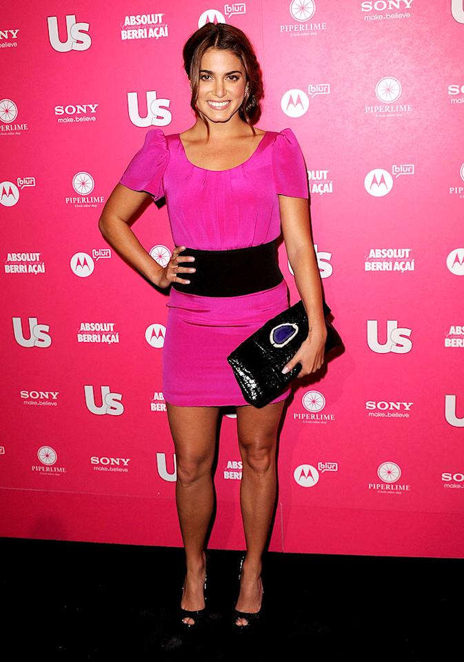 """New Moon's"" Nikki Reed showed off her gorgeous gams in a hot pink Jay Godfrey mini. What's her secret to sexy legs? ""Outdoor stuff!"" she revealed to <a href=""http://www.usmagazine.com/stylebeauty/photos/inside-us-hot-hollywood-bash-2010234/7906"" target=""new"">Us Weekly</a>. ""Hiking, water-skiing, all kinds of water sports."" Jason Merritt/<a href=""http://www.gettyimages.com/"" target=""new"">GettyImages.com</a> - April 22, 2010"