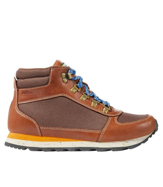 "<h2>L.L. Bean Waterproof Katahdin Hiking Boots</h2><br><strong>Best Vintage Style (With Modern Engineering)</strong><br>Looking for a throwback-styled boot with all of the advantages of modern footwear technology? Look no further than L.L. Bean's nostalgic Katahdin boot. It boasts a waterproof construction and cushy EVA midsole for a supportive fit, while a suede upper gives it that vintage-inspired <em>je ne sais quois.</em><br><br><strong>The Hype: </strong>4 out of 5 stars; 47 reviews on <a href=""https://www.llbean.com/"" rel=""nofollow noopener"" target=""_blank"" data-ylk=""slk:L.L. Bean"" class=""link rapid-noclick-resp"">L.L. Bean</a><br><br><strong>What They're Saying: </strong>""Overall, I found them super comfortable with good traction, plus they're real cute. (I'll mention this a few times more.) These boots are truly waterproof, too. I misjudged the depth of one portion of lake I walked through and ended up in ankle-deep water and my feet got very minimally wet, likely from water coming over the top of the ankle, but still dried fast. I wore these to dinner on a patio one evening in about 35 degrees F (plus snow!) and they kept my feet warm and dry with medium weight socks, plus looked cute! On the flip side, on our longer hikes, the temperatures were about 65 degrees F and sunny and my feet weren't overly warm either but was wearing light-weight socks. Love the color contrast of the cognac with the bright blue and yellow accents. They work well with hiking apparel or just a casual fall or winter outfit. I found myself wearing them all the time on the trip regardless of the hikes we were doing because they look great and are comfortable."" <em>— Linebackerbarbie, </em><a href=""https://www.llbean.com/"" rel=""nofollow noopener"" target=""_blank"" data-ylk=""slk:LLBean.com"" class=""link rapid-noclick-resp""><em>LLBean.com</em></a><em> reviewer</em><br><br><strong>L.L. Bean</strong> Waterproof Katahdin Hiking Boots, $, available at <a href=""https://go.skimresources.com/?id=30283X879131&url=https%3A%2F%2Fwww.llbean.com%2Fllb%2Fshop%2F120175%3Fpage%3Dwomen-s-waterproof-katahdin-hiking-boots-leather-mesh%26bc%3D32-516689-6715%26feat%3D6715-GN2%26csp%3Ds%26pos%3D4"" rel=""nofollow noopener"" target=""_blank"" data-ylk=""slk:L.L. Bean"" class=""link rapid-noclick-resp"">L.L. Bean</a>"