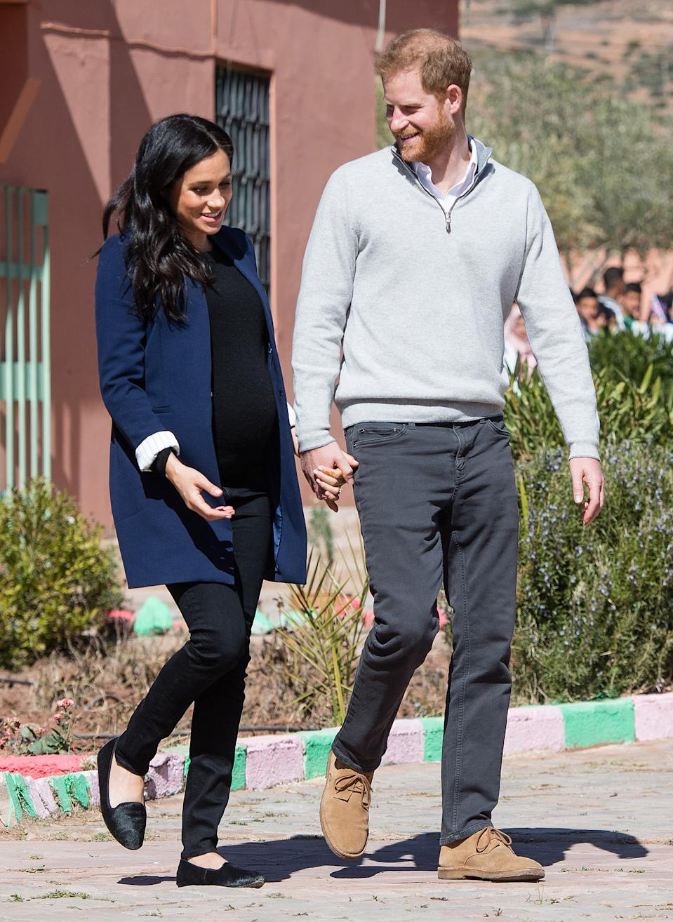 Meghan Markle wearing the Starling Loafer by Birdies during a visit to Morocco in 2019.