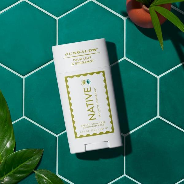 <p>If you have sensitive skin, this <span>Native x Jungalow Palm Leaf &amp; Bergamot Sensitive Deodorant</span> ($12) is for you. There are a bunch of great scents to choose from, but we're into this crisp, fresh combination.</p>