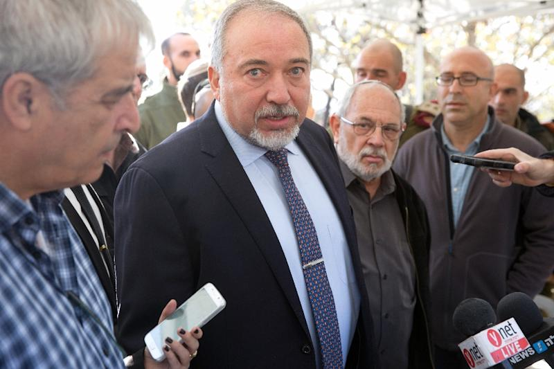 "Israel Defense Minister Avigdor Lieberman said Syrian President Bashar al-Assad ""massacred and murdered people"" and ""he and the Iranians"" should be thrown out of Syria (AFP Photo/MENAHEM KAHANA)"