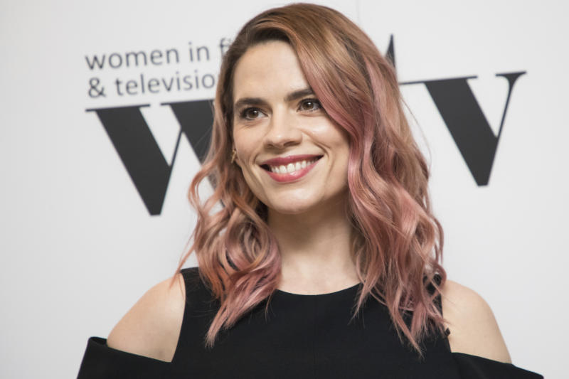 Actress Hayley Atwell poses for photographers upon arrival at the Women in Film and TV Awards, in London, Friday, Dec. 7, 2018. (Photo by Vianney Le Caer/Invision/AP)