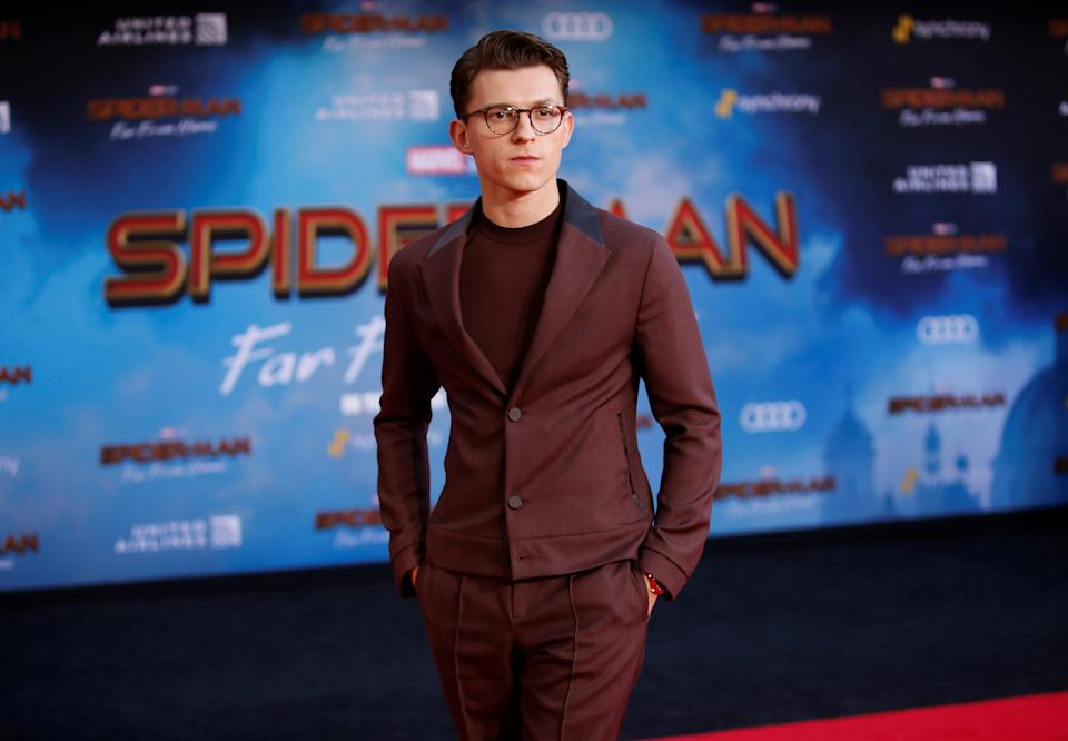 """Actor Tom Holland poses at the World Premiere of Marvel Studios' """"Spider-man: Far From Home"""" in Los Angeles, California, U.S., June 26, 2019. REUTERS/Danny Moloshok"""