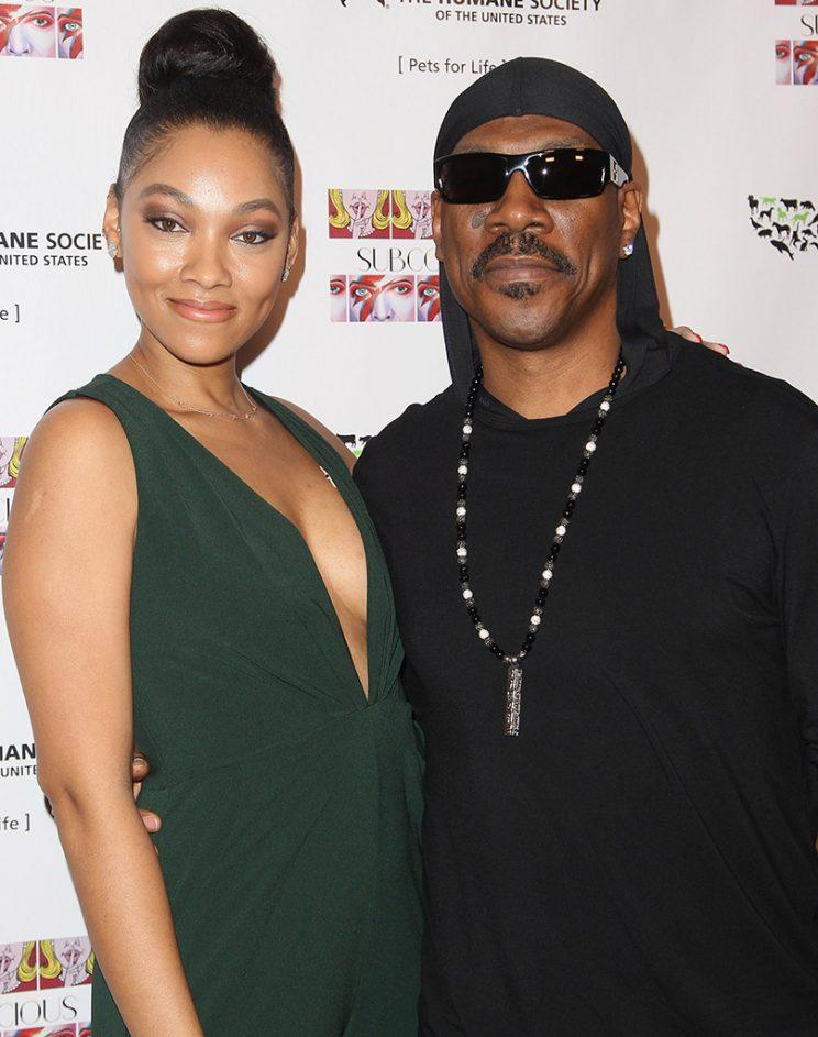 Bria Murphy and Eddie Murphy attend the Debut Gallery Opening Of Bria Murphy's