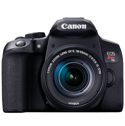 Canon EOS Rebel T8i DSLR Camera with 18-55MM Lens Kit (Photo via Best Buy Canada)