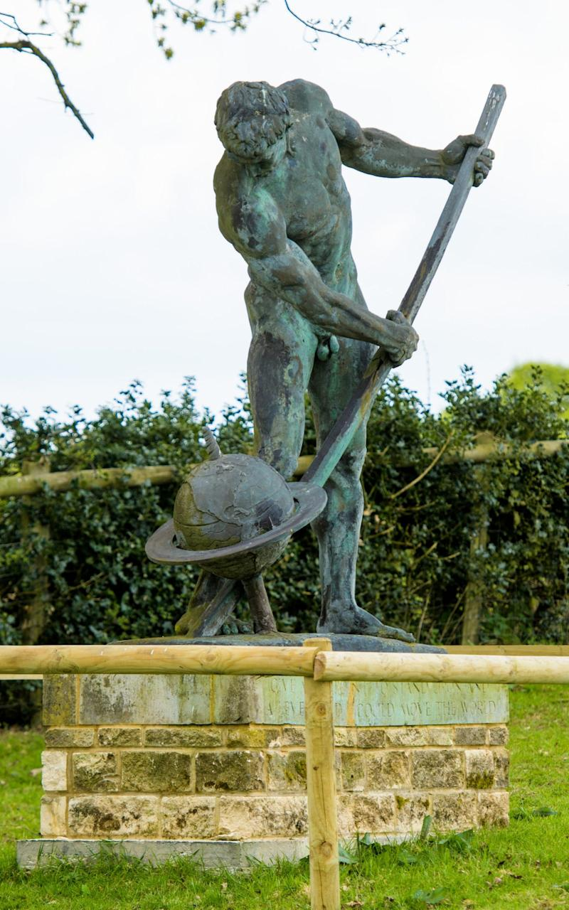 Archimedes naked form has been causing a stir in Hampshire  - Credit:  Anthony Upton
