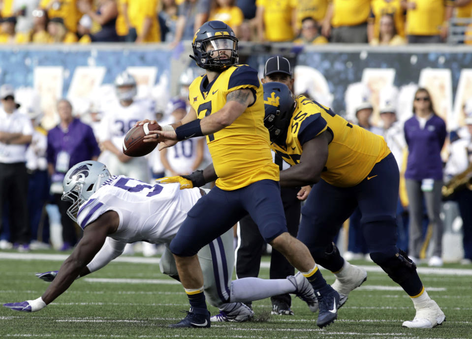 West Virginia quarterback Will Grier could be a first-round pick in next year's NFL draft. (AP)