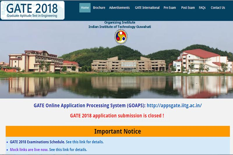 GATE 2018 Admit Cards to Release on 5th Jan, Check the Timetable & Online Application Schedule for PSUs