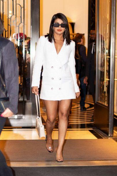 PHOTO: Priyanka Chopra is seen wearing Reformation in Tribeca on August 29, 2019 in New York City. (Gotham/GC Images/Getty Images)