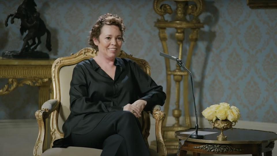 The Crown star Olivia Colman (Photo: YouTube/Netflix)