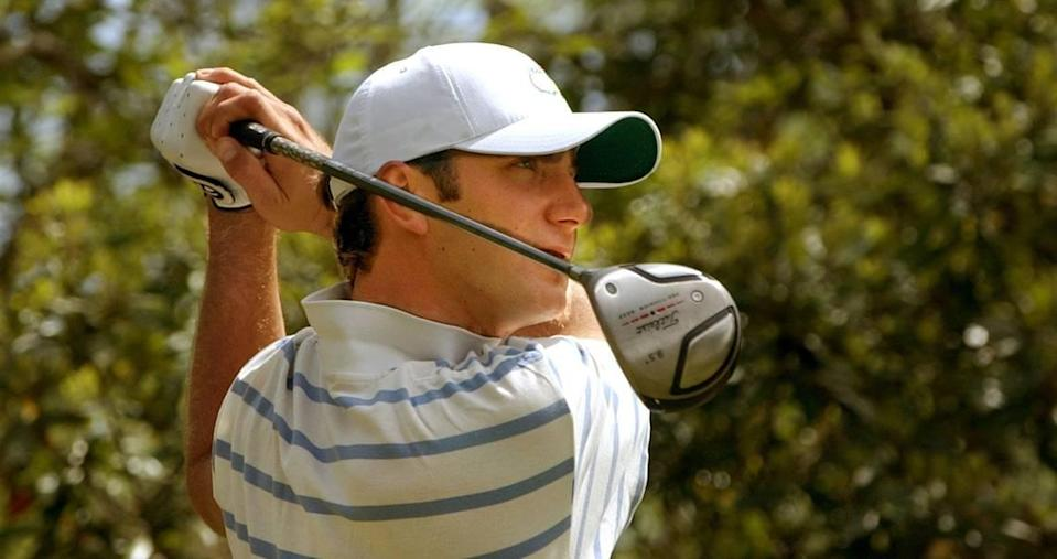 From 2006: Coastal Carolina University golfer Dustin Johnson watches his tee shot on the 12th hole at the TPC of Myrtle Beach during a practice round.
