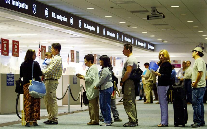 The US requires nationals from five EU countries to apply for visas - Credit: 2002 Getty Images/Joe Raedle