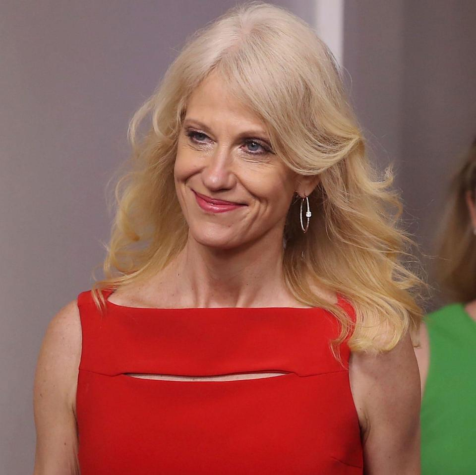 White House advisor Kellyanne Conway has been criticised for using 'alternative facts' - Credit: Mark Wilson