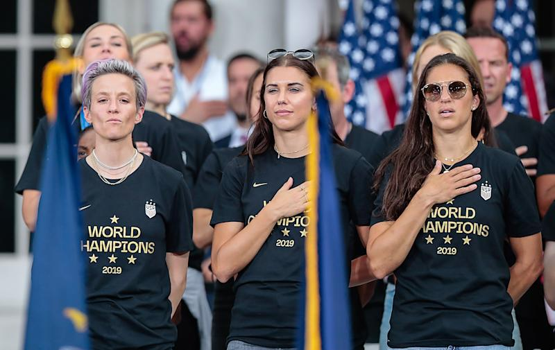 With the Olympics pushed back to 2021, what does the future hold for USWNT stars like Megan Rapinoe, Alex Morgan and Carli Lloyd? (Vincent Carchietta-USA TODAY Sports)