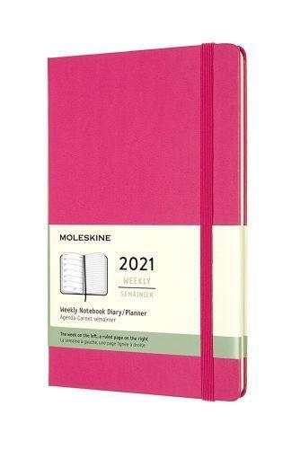 """<p><strong>Moleskine</strong></p><p><strong>$17.95</strong></p><p><a href=""""https://us.moleskine.com/12-month-weekly-notebook-planner-pink/p1828"""" rel=""""nofollow noopener"""" target=""""_blank"""" data-ylk=""""slk:SHOP IT"""" class=""""link rapid-noclick-resp"""">SHOP IT</a></p><p>Keep it simple with Moleskine's weekly planner, available in a pocket size or a large size. Did I mention it also comes with a color-coordinated expandable inner pocket?!</p>"""