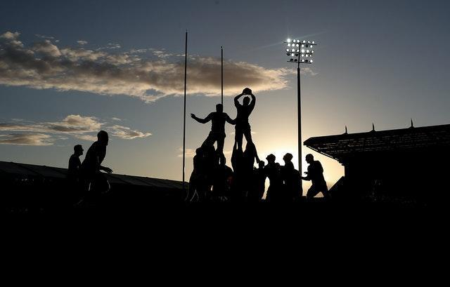 Players from Exeter and London Irish contest a line-out at Sandy Park in September. The Chiefs suffered a surprise 22-19 defeat but recovered to defeat Wasps in the Premiership Grand Final and clinch a second title in four seasons