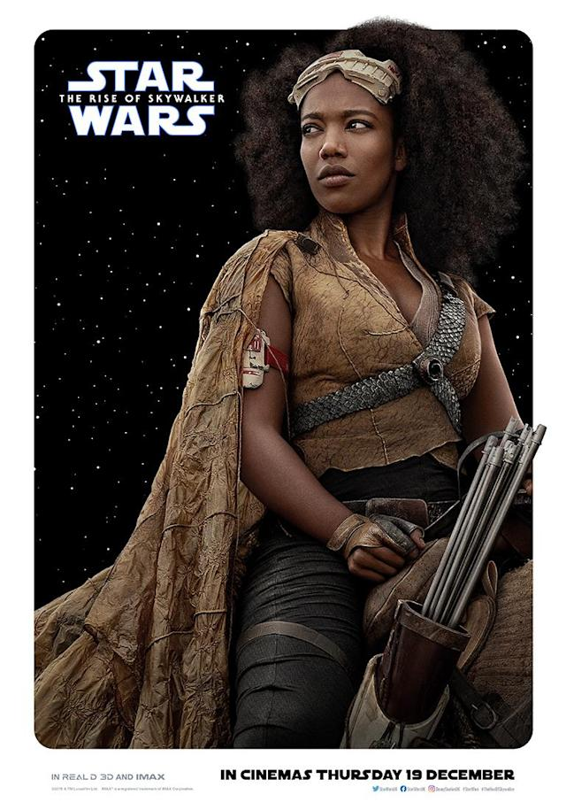 Newcomer Naomi Ackie is a freedom fighter who teams up with Finn to fight the First Order. (Disney)