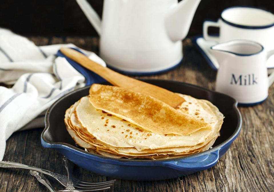 """<p><a href=""""https://www.prima.co.uk/all-recipes/quick-recipes/news/a22633/easy-pancake-recipe/"""" rel=""""nofollow noopener"""" target=""""_blank"""" data-ylk=""""slk:Pancake Day"""" class=""""link rapid-noclick-resp"""">Pancake Day</a> is almost upon us! And you know what that means... it's time to start looking up exciting pancake recipes - both American pancakes and french crepes.</p><p>But making pancakes on Shrove Tuesday is so much more than just chucking some pancake mix in a bowl and hoping for the best - making perfect pancakes is a real art. So, who better to give us their pancake-making tips than <a href=""""https://www.wherethepancakesare.com/"""" rel=""""nofollow noopener"""" target=""""_blank"""" data-ylk=""""slk:Where The Pancakes Are's"""" class=""""link rapid-noclick-resp"""">Where The Pancakes Are's</a> Patricia Trijbits?</p><p>Lemon, sugar, maple syrup and Nutella at the ready!</p>"""