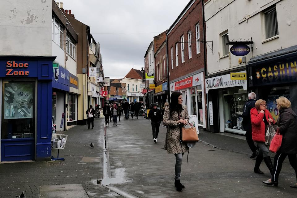 Wellington high street. This area of Telford has been at the heart of the scandal. (Photo: Natasha Hinde)